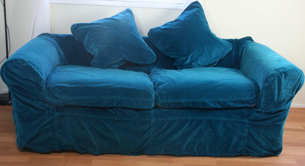 Blue Velvet Couch Tufted Sofa Navy